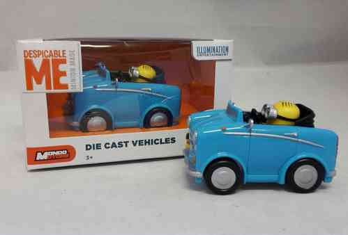 MON53199-01 - Minion Dave in blauem Auto - Minions Die Cast Vehicles