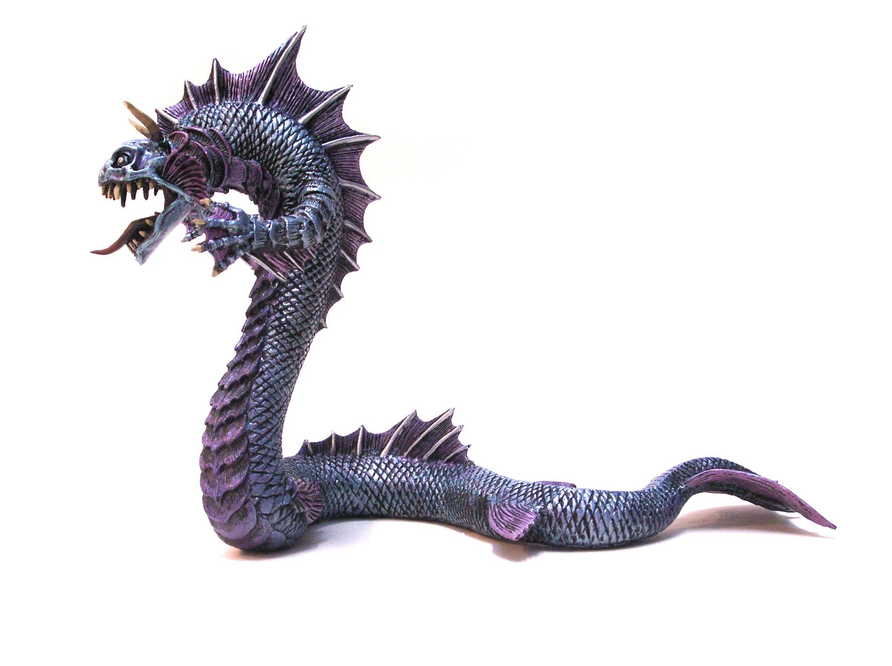 P60239 Drachen - Seeungeheuer, silber - blau - AXSE - Die