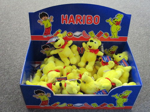 "BEL90000 - Haribo Bear with red bow ""plush"" Display (24 pcs)"