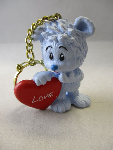"SCH602 - Tapsel with Heart ""Love"" - Key chain"